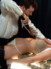 Sexy tied up and gagballed brunette taking - Unique Bondage - Pic 3