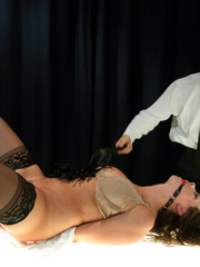 Sexy tied up and gagballed brunette taking - Unique Bondage - Pic 6