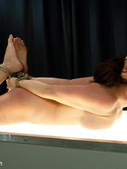 Sexy tied up and gagballed brunette taking - Unique Bondage - Pic 7