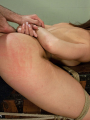 Sexy tied up and gagballed brunette taking - Unique Bondage - Pic 12
