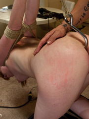 Perfect body enslaved redhead babe gets her - Unique Bondage - Pic 11