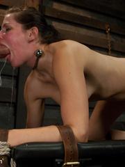 Petite dark haired slave hottie thoroughly - Unique Bondage - Pic 9