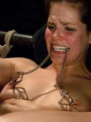 Petite dark haired slave hottie thoroughly - Unique Bondage - Pic 13