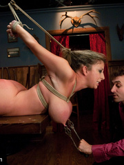Super busty enslaved milf enjoys pain play - Unique Bondage - Pic 4