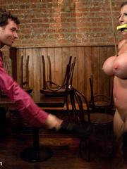 Super busty enslaved milf enjoys pain play - Unique Bondage - Pic 6