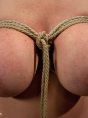 Super busty enslaved milf enjoys pain play - Unique Bondage - Pic 7