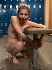 Bound in the locker room young slave - Unique Bondage - Pic 11
