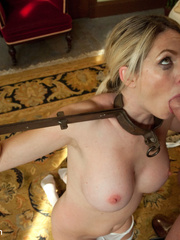 Blonde enslaved maid gets her tight ass - Unique Bondage - Pic 6