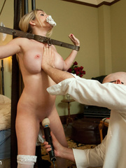 Blonde enslaved maid gets her tight ass - Unique Bondage - Pic 7
