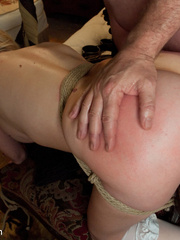 Blonde enslaved maid gets her tight ass - Unique Bondage - Pic 9