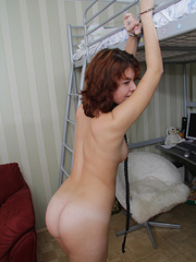 Ensalved young hottie gets her tight pantied - Unique Bondage - Pic 8