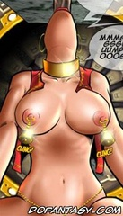 Bdsm comics. Girl with big tits takes a deep throat.