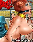 Slave comics. Three big guy fuck cute little girl with big tits but!