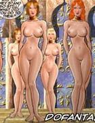 Sado cartoons. Eight beautiful, busty, big booty with anime chicks.