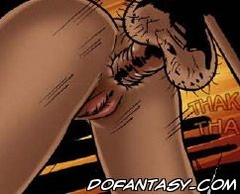Sex slave comics. Hairy dick shoved into the anus blonde.