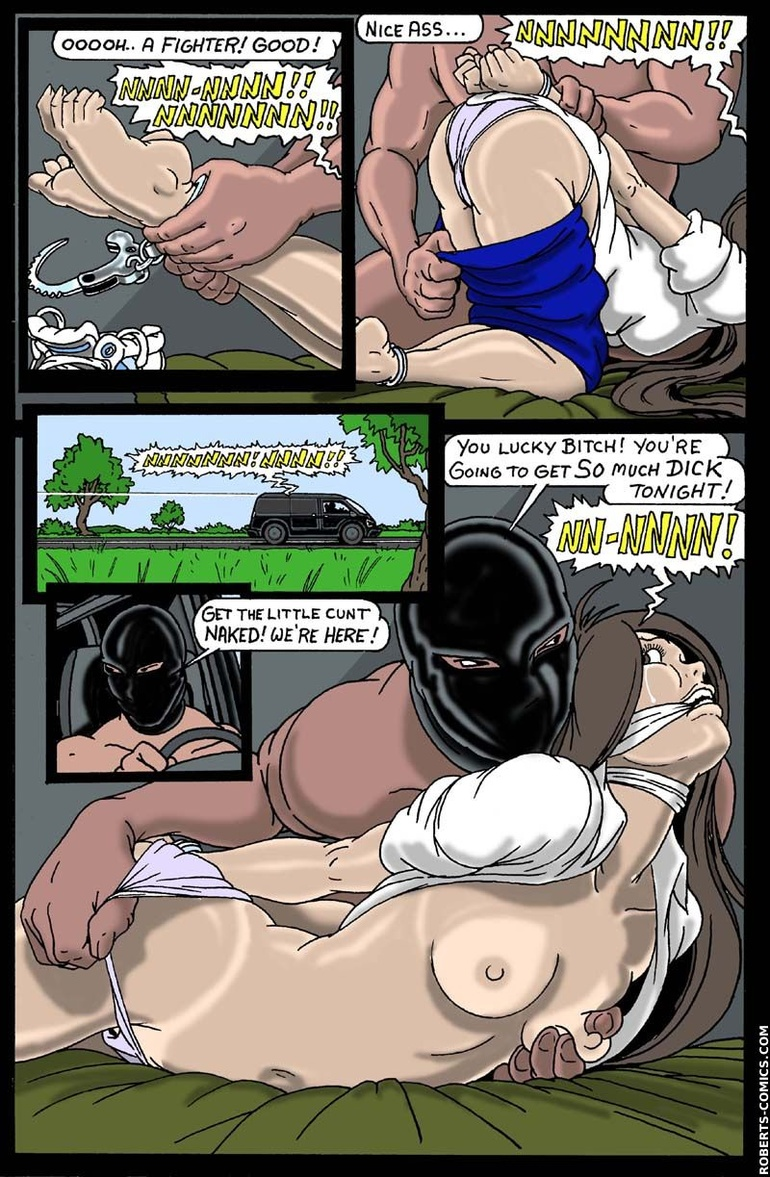 Sex slave comics. In the van, PUSSY! - BDSM Art Collection - Pic 2