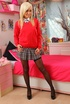 Paige D looks sexy in her cute red college uniform…