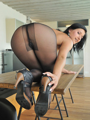 Dark haired Lucy is fresh after - Sexy Women in Lingerie - Picture 9