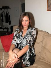 Big boobed Kyla slowly stripteasing - Sexy Women in Lingerie - Picture 1