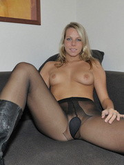 Lusty Mika on her bed just in black - Sexy Women in Lingerie - Picture 12