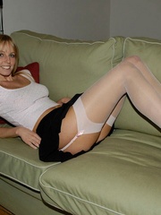 Lusty Mika on her bed just in black - Sexy Women in Lingerie - Picture 13