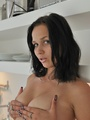 Small tits Ally in seamless nylons feels - Picture 10