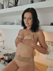 Small tits Ally in seamless nylons - Sexy Women in Lingerie - Picture 11