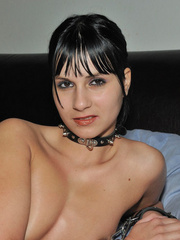Handcuffed babe Naomi in white net - Sexy Women in Lingerie - Picture 11