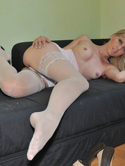 Blonde Sophie Moone wearing sexy - Sexy Women in Lingerie - Picture 11