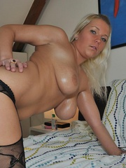 Nasty blonde sarah in black - Sexy Women in Lingerie - Picture 14