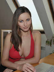 Adorable bid boobed Kyla wears sexy - Sexy Women in Lingerie - Picture 3
