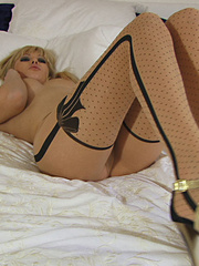 Shy babe Gwen in tight stockings - Sexy Women in Lingerie - Picture 16