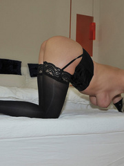 Tied blonde woman Alexis has her - Sexy Women in Lingerie - Picture 6