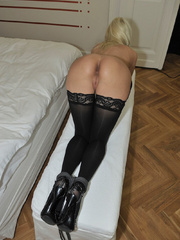 Tied blonde woman Alexis has her - Sexy Women in Lingerie - Picture 8