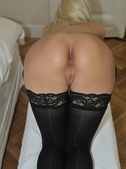 Tied blonde woman Alexis has her - Sexy Women in Lingerie - Picture 10