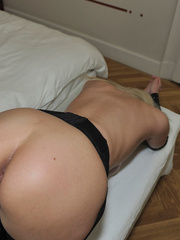 Tied blonde woman Alexis has her - Sexy Women in Lingerie - Picture 13