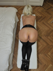 Tied blonde woman Alexis has her - Sexy Women in Lingerie - Picture 14