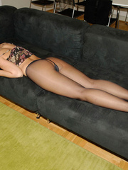 Tied blonde woman Alexis has her - Sexy Women in Lingerie - Picture 18