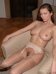 Tied blonde woman Alexis has her - Sexy Women in Lingerie - Picture 19