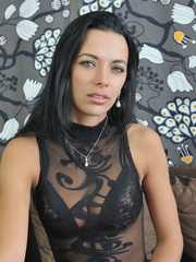 Slim body Shalina in sexiest black - Sexy Women in Lingerie - Picture 1