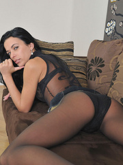 Slim body Shalina in sexiest black - Sexy Women in Lingerie - Picture 10