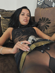 Slim body Shalina in sexiest black - Sexy Women in Lingerie - Picture 12