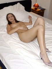Handcuffed babe Naomi in white net - Sexy Women in Lingerie - Picture 15
