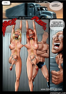 Bdsm comics. Two busty american  girls captured by cruel venezuelan!