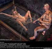 Slave art. Open your eyes, slave! Look at your Master's prick/ this's
