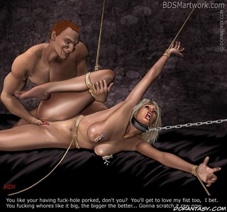 Bdsm cartoons. Dirty slave! You were not a virgin! You deserve pinishment for that!