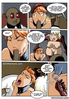 Free bdsm comics. Look into my eyes and smile! Aren't you happy to suck such a big cock?