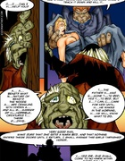 Slave comics. Naked girl awakened in the bed ang got leashed!