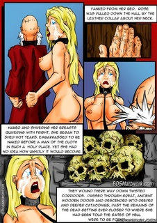 Bdsm art. Yanked from her bed. Rose was pulled don the hall by the leather collar about her neck!