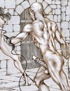 Sex slave comics. Bald overseer enjoys captured girls!